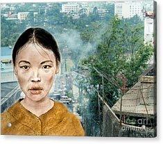 My Kuiama A Young Vietnamese Girl Version II Acrylic Print