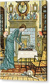 My Lady's Chamber Acrylic Print by Walter Crane