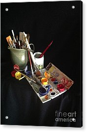 My Limited Palette Acrylic Print by Nan Wright
