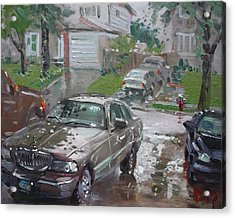 My Lincoln In The Rain Acrylic Print