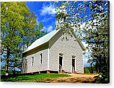 Acrylic Print featuring the photograph My Little Country Church by Geraldine DeBoer