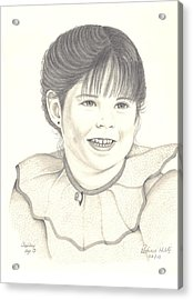 Acrylic Print featuring the drawing My Little Girl by Patricia Hiltz