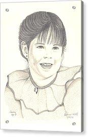 My Little Girl Acrylic Print by Patricia Hiltz