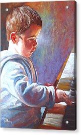 My Little Mozart Acrylic Print by Lynda Robinson