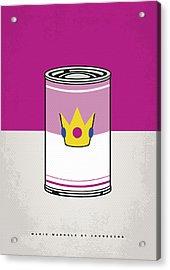 My Mario Warhols Minimal Can Poster-peach Acrylic Print by Chungkong Art