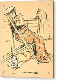 My Miserable Mistress Acrylic Print by Cecil Charles Windsor Aldin