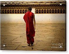Acrylic Print featuring the digital art My Monastery  by Angelika Drake