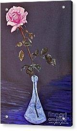 My Mothers Rose Acrylic Print by Nina Ficur Feenan