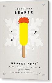 My Muppet Ice Pop - Beaker Acrylic Print by Chungkong Art