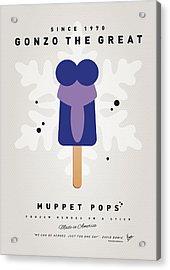 My Muppet Ice Pop - Gonzo Acrylic Print by Chungkong Art