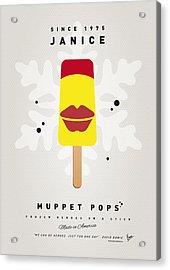 My Muppet Ice Pop - Janice Acrylic Print by Chungkong Art