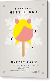 My Muppet Ice Pop - Miss Piggy Acrylic Print by Chungkong Art