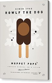 My Muppet Ice Pop - Rowlf Acrylic Print by Chungkong Art