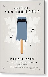 My Muppet Ice Pop - Sam The Eagle Acrylic Print by Chungkong Art
