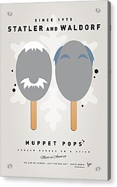 My Muppet Ice Pop - Statler And Waldorf Acrylic Print by Chungkong Art