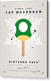 My Nintendo Ice Pop - 1 Up Mushroom Acrylic Print by Chungkong Art