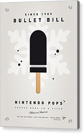 My Nintendo Ice Pop - Bullet Bill Acrylic Print by Chungkong Art