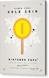 My Nintendo Ice Pop - Gold Coin Acrylic Print by Chungkong Art