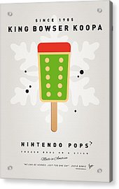 My Nintendo Ice Pop - King Bowser Acrylic Print by Chungkong Art