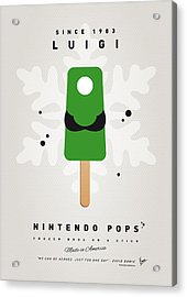 My Nintendo Ice Pop - Luigi Acrylic Print by Chungkong Art