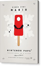 My Nintendo Ice Pop - Mario Acrylic Print by Chungkong Art