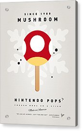My Nintendo Ice Pop - Mushroom Acrylic Print by Chungkong Art