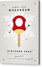 My Nintendo Ice Pop - Mushroom Acrylic Print