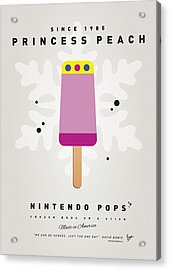 My Nintendo Ice Pop - Princess Peach Acrylic Print by Chungkong Art
