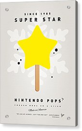 My Nintendo Ice Pop - Super Star Acrylic Print by Chungkong Art