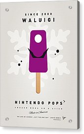 My Nintendo Ice Pop - Waluigi Acrylic Print by Chungkong Art