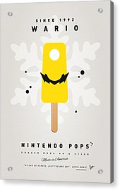 My Nintendo Ice Pop - Wario Acrylic Print by Chungkong Art