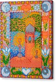 My Norwegian Folk Art Masjid Acrylic Print