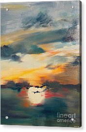 Acrylic Print featuring the painting My Paradise Sunrise by PainterArtist FIN