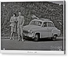 My Parents Were Awesome .  Days Gone By Good Goin.1963. Photographer Andrzej Goszcz. Acrylic Print by  Andrzej Goszcz