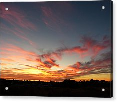 Acrylic Print featuring the photograph My Place Under The Sky by Janina  Suuronen