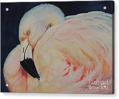 My Pink Flamingo...sold  Acrylic Print