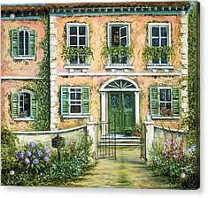My Pink Italian Villa Acrylic Print by Marilyn Dunlap
