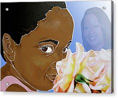 My Pink Rose Acrylic Print