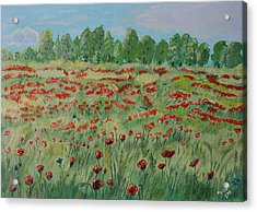 My Poppies Field Acrylic Print