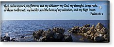 My Rock My Fortress Acrylic Print