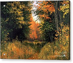 My Secret Autumn Place Acrylic Print by Michael Swanson