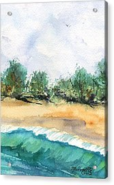 Acrylic Print featuring the painting My Secret Beach by Marionette Taboniar