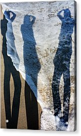 My Shadow Follows Me Acrylic Print by Betsy Knapp