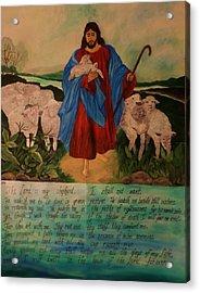 My Shepherd Acrylic Print by Christy Saunders Church