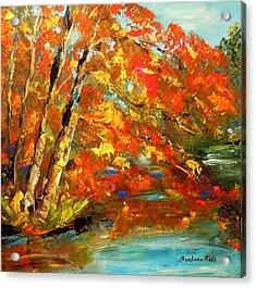 My Side Of The River Acrylic Print by Barbara Pirkle
