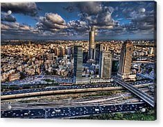 Acrylic Print featuring the photograph My Sim City by Ron Shoshani