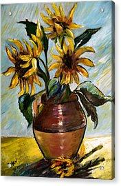 My Sunflowers Acrylic Print