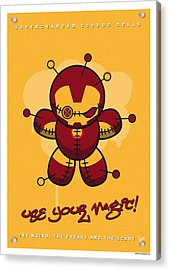 My Supercharged Voodoo Dolls Ironman Acrylic Print by Chungkong Art