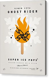 My Superhero Ice Pop - Ghost Rider Acrylic Print