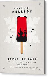My Superhero Ice Pop - Hellboy Acrylic Print by Chungkong Art